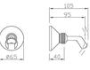 Схема Держатель для душевой лейки Giulini Programma Docce 1557 Современный / Скандинавский / Модерн