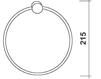 Схема Держатель для полотенец Giulini Accessori Bagno Rg0318 Современный / Скандинавский / Модерн