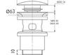 Схема Донный клапан Giulini Articoli Vari 5102 Современный / Скандинавский / Модерн