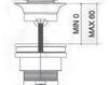 Схема Донный клапан Giulini Articoli Vari 5105 Современный / Скандинавский / Модерн