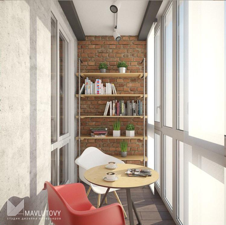 Интерьер двухкомнатной квартиры с элементами лофта. abitant .