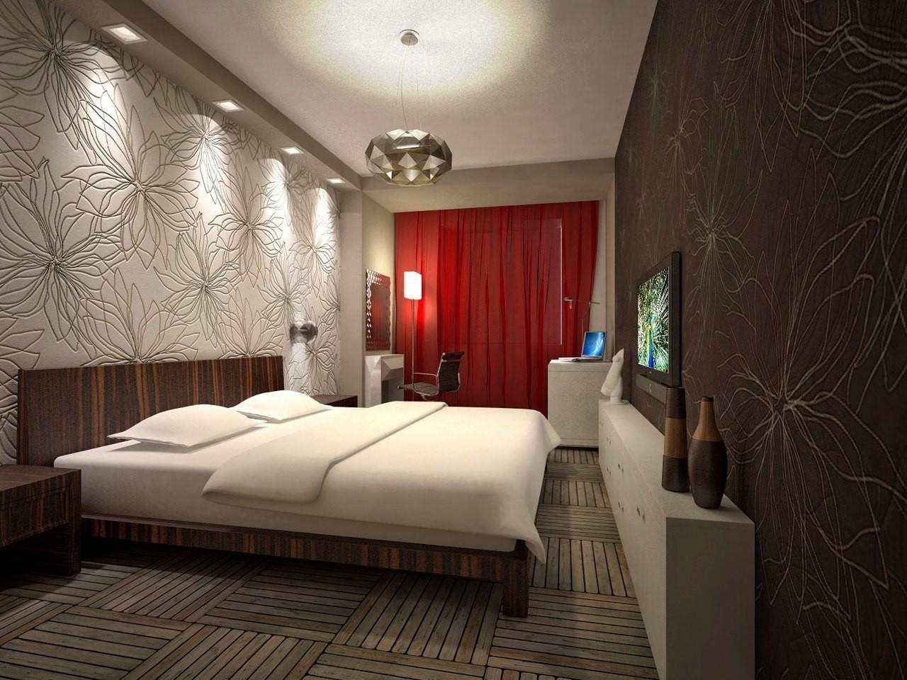 Интерьер светильников в спальне
