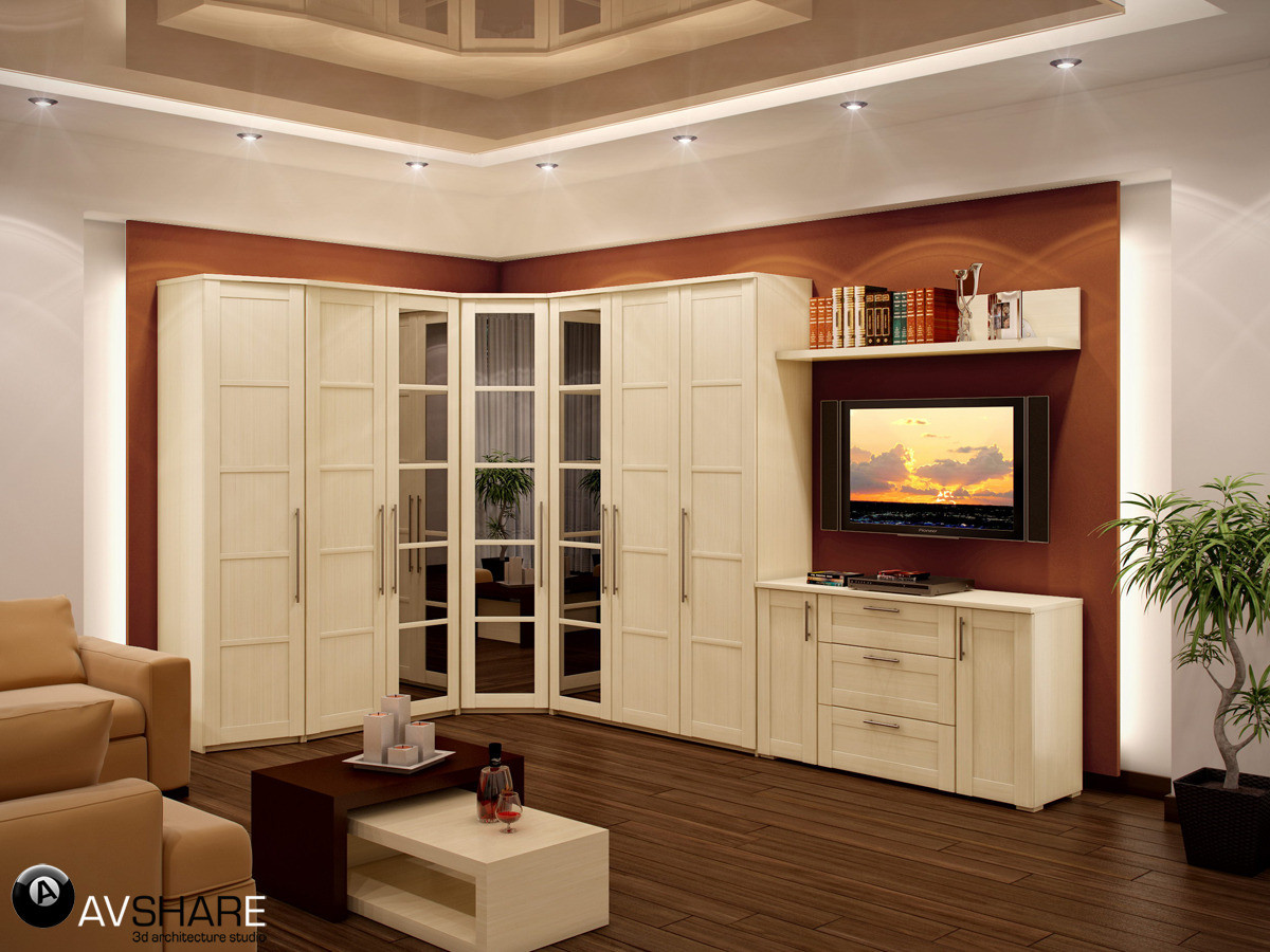 Дизайн Шкафов В Гостиную В Москве