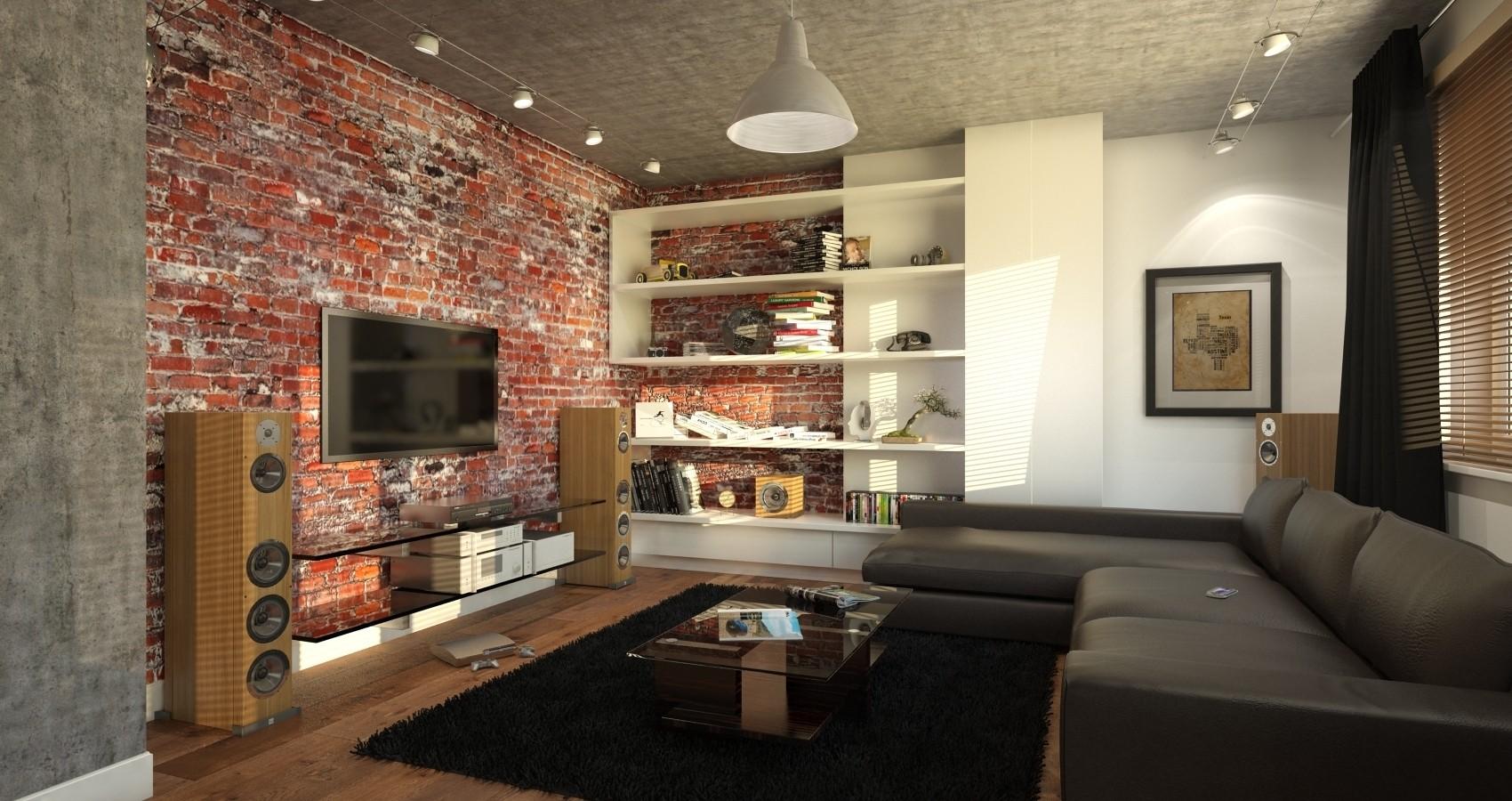 Дизайн кухни гостиной в стиле лофт