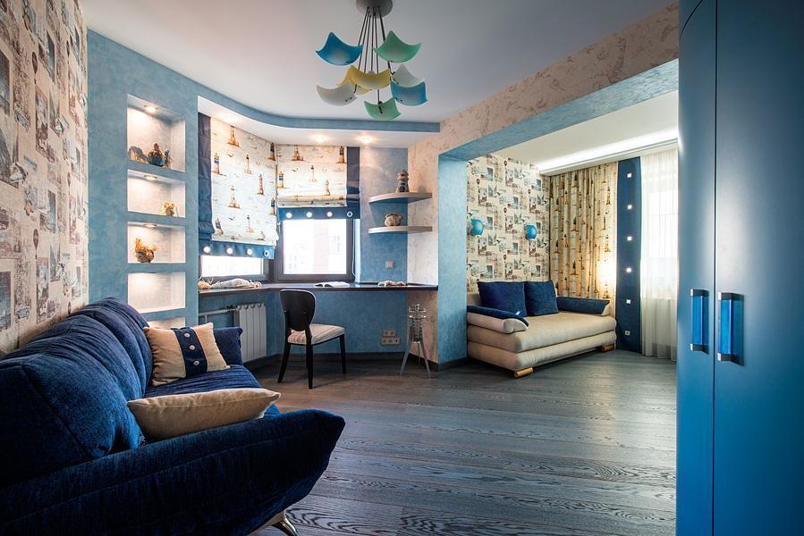 Дизайн комнат в домах п-44
