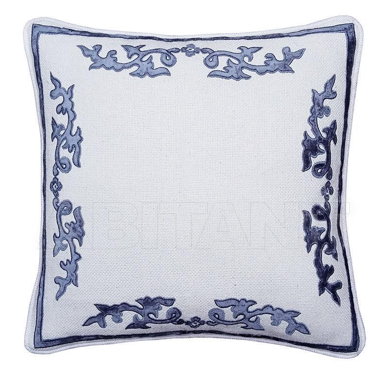 Купить Подушка FLORIAN SQUARE Ivory/Blue Atelier Textiles Florian Collection E13225IV