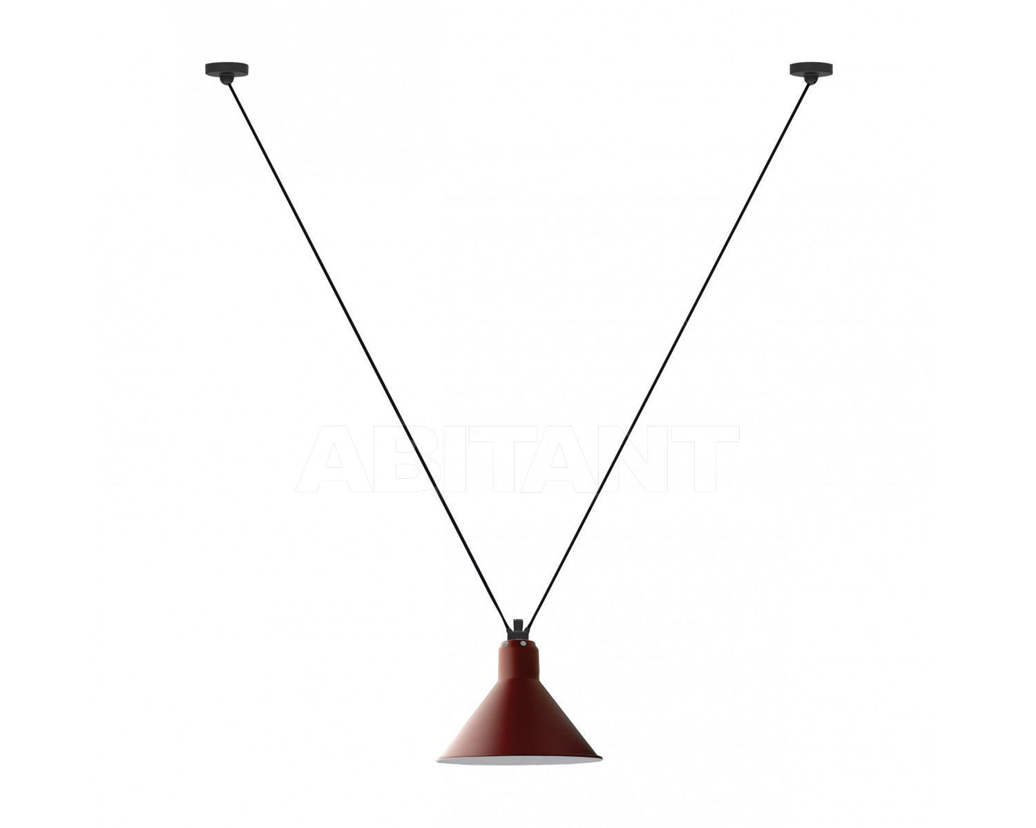 Купить Светильник La Lampe Gras by DCW éditions GRAS LAMPS 323 RED CONIC L