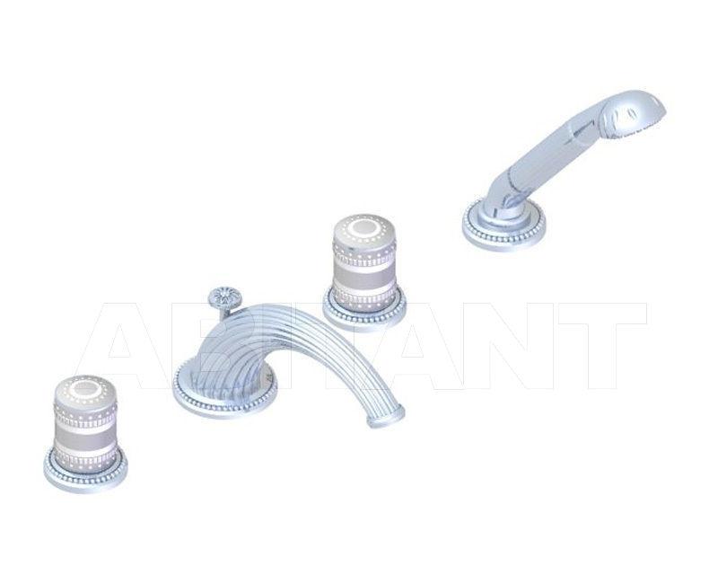 Купить Смеситель для ванны THG MONTE CARLO PORCELAINE OR BLANC U8C.112BG