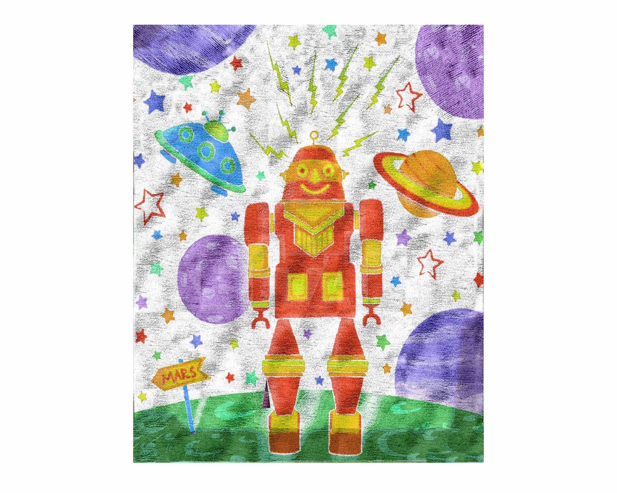 Купить Ковер детский Illulian & C. s.n.c Kids SPACE NANA C