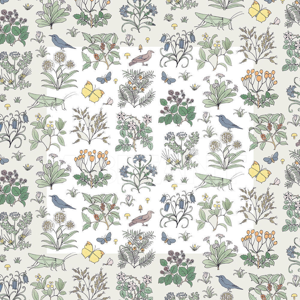 Купить Флизелиновые обои VOYSEY'S GARDEN  Henry Bertrand Ltd Wallpaper 6-WA-VOY-DI-WHT-XXX-004-SS16