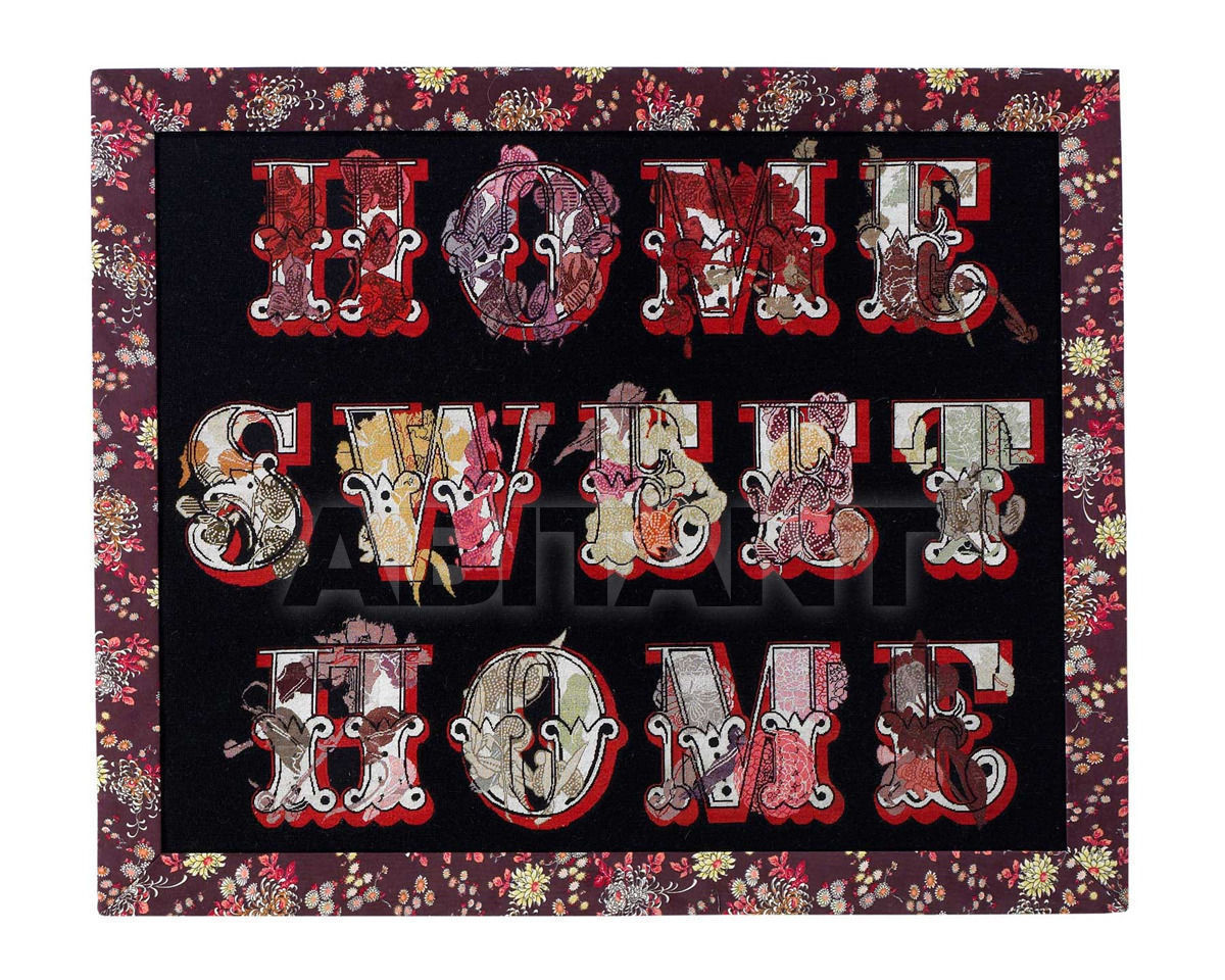 Купить Ковер современный The Rug Company Suzanne Sharp Home Sweet Home Large (Black)