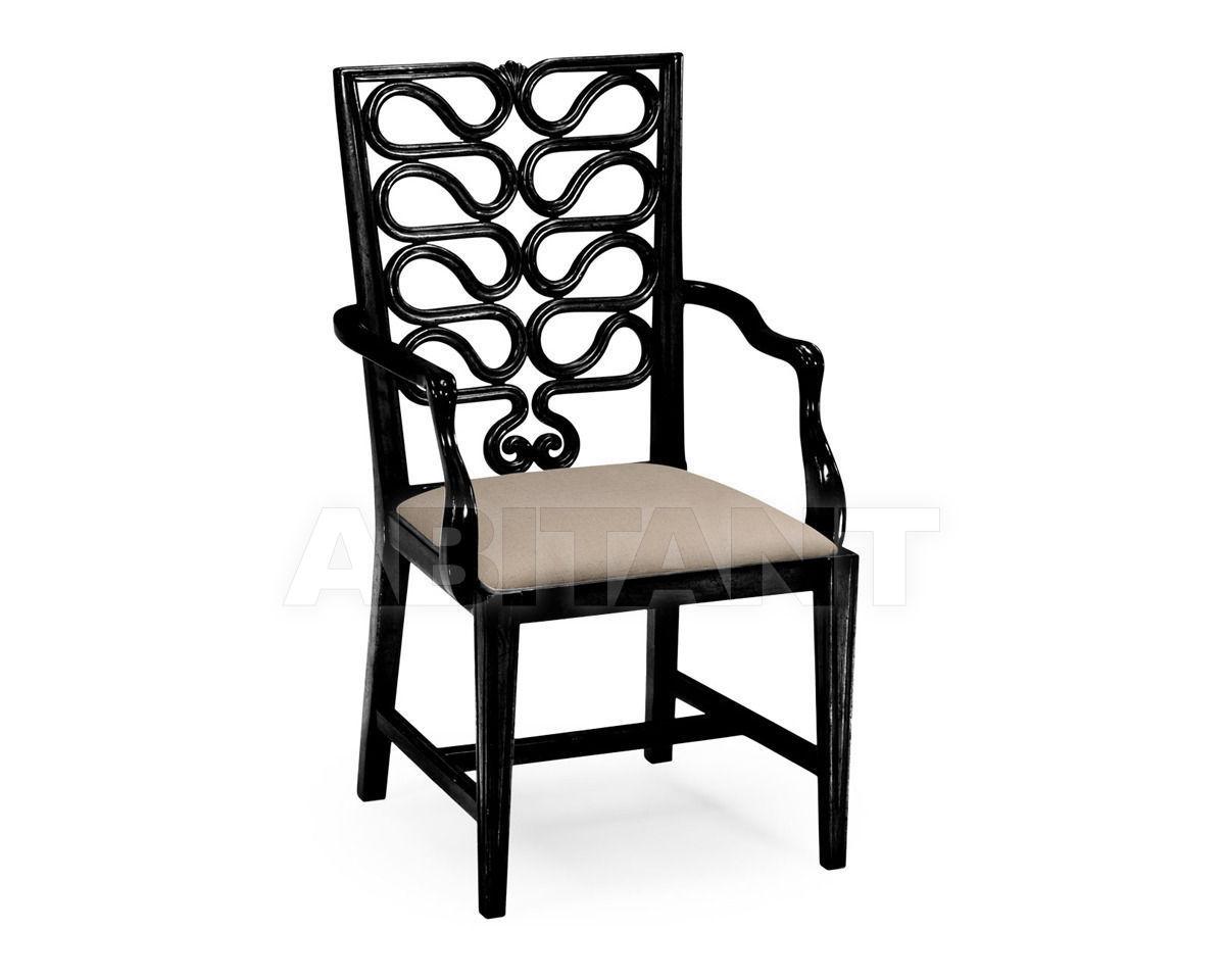 Купить Стул с подлокотниками Serpentine Jonathan Charles Fine Furniture Windsor 492288-AC-BLA-F001