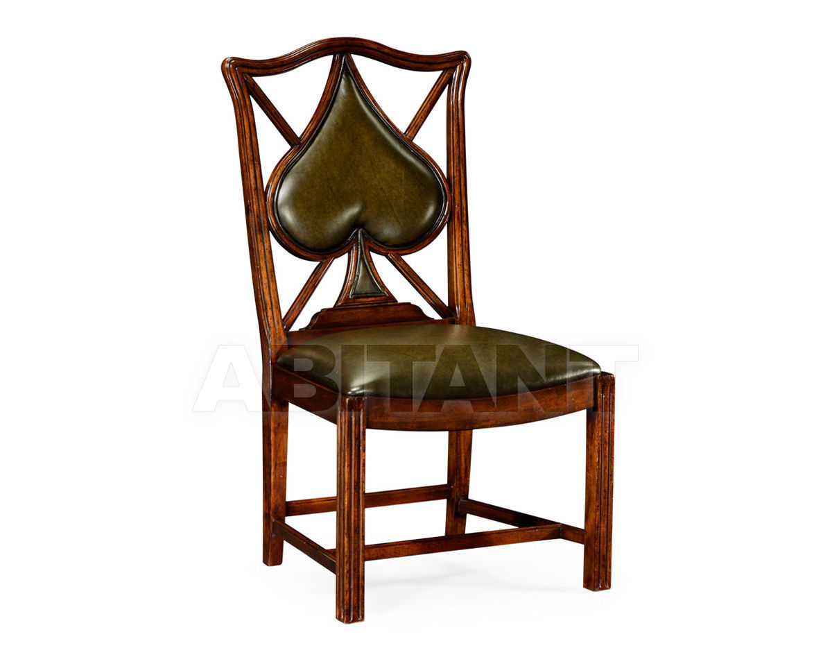 "Купить Стул Playing card ""Spade"" Jonathan Charles Fine Furniture Windsor 493361-SC-WAL-L007"
