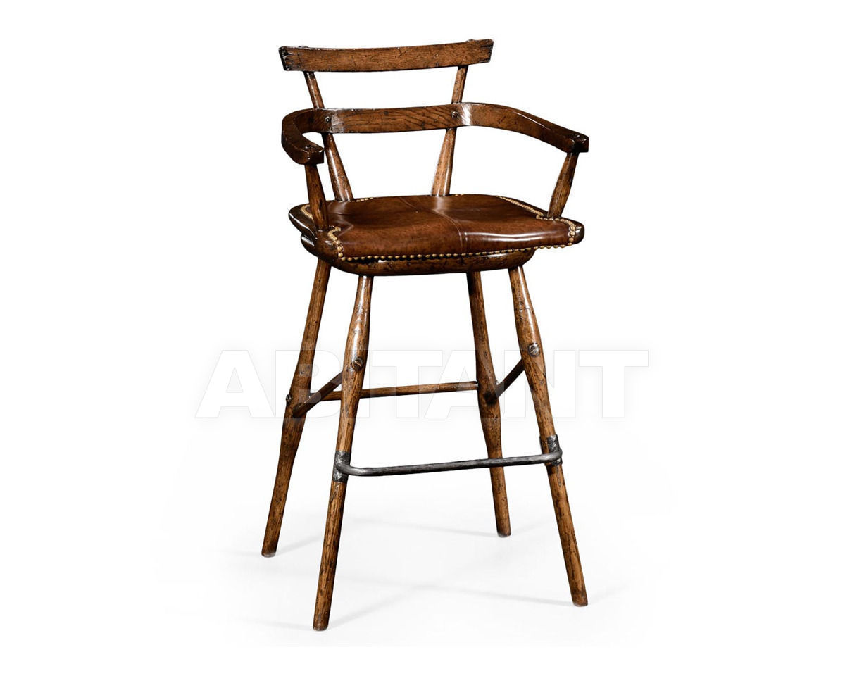 Купить Барный стул Jonathan Charles Fine Furniture Tudor Oak 494315-AC-TDO