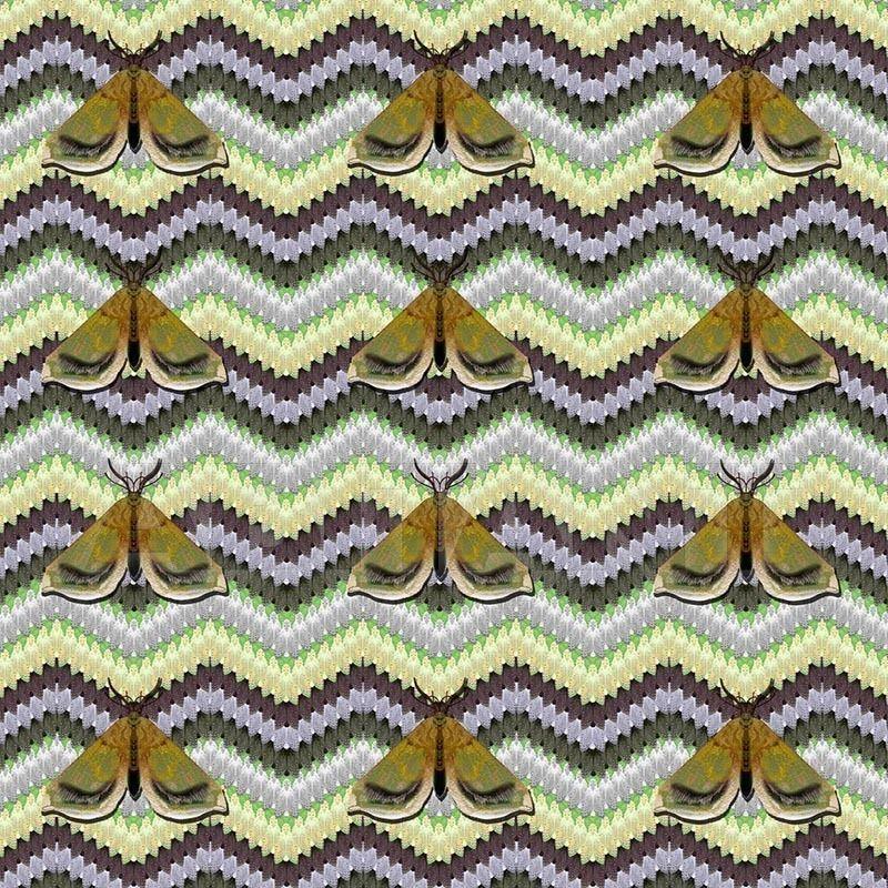 Купить Портьерная, обивочная ткань BELL MOTH FABRIC GREEN Timorous beasties Rogues DIGI/BM/3098/02