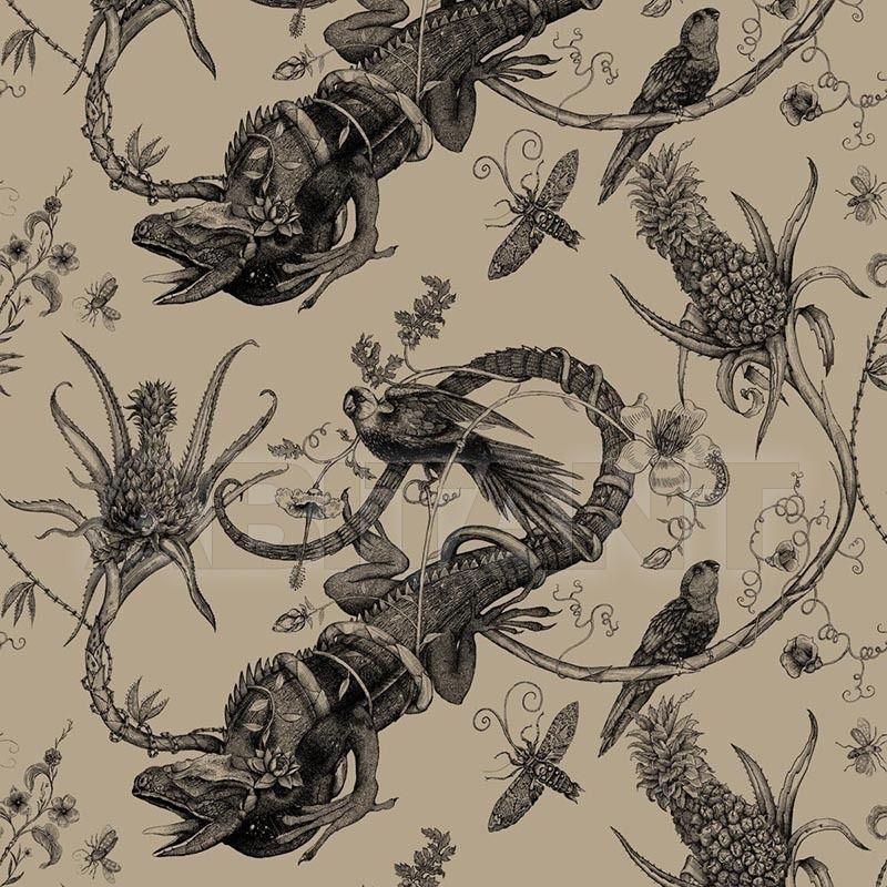 Купить Портьерная, обивочная ткань IGUANA - BLACK Timorous beasties Darwin IGU/1614/02