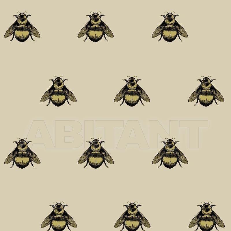 Купить Портьерная, обивочная ткань NAPOLEON BEE - BLACK & GOLD Timorous beasties Darwin NAP/1614/01